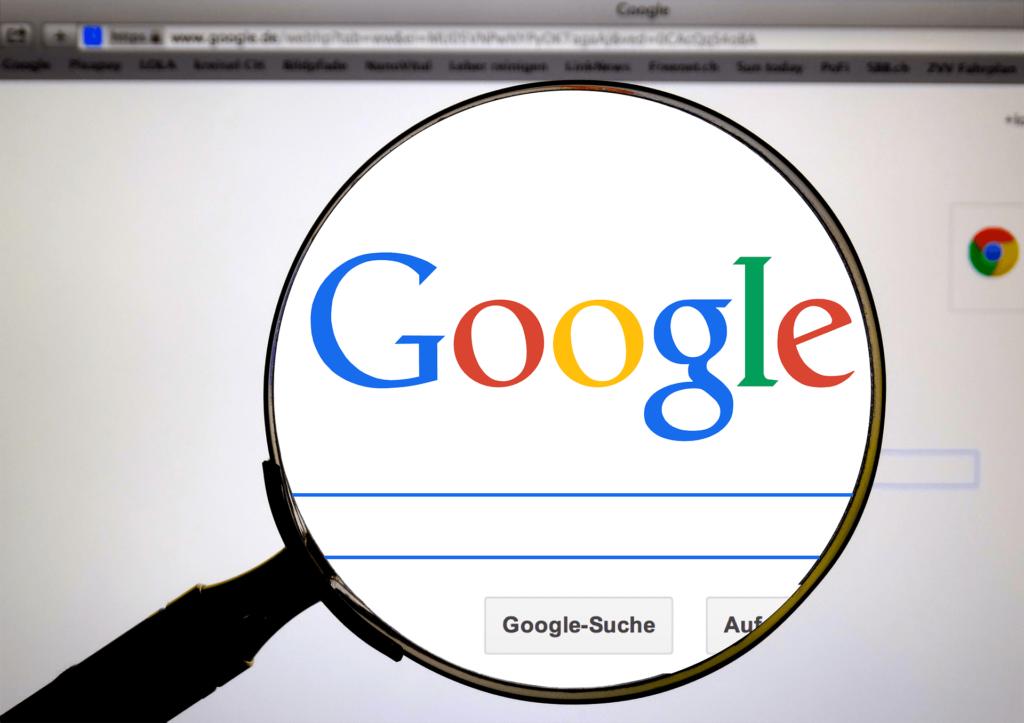 Googleと虫眼鏡