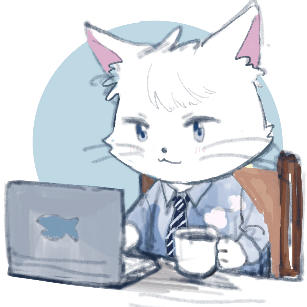 ネコキャラのラフ画